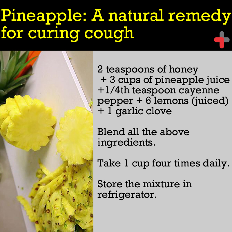 Can pineapple cure cough and cold heres a recipe for that flu if your cough is intense please find the right doctor here http forumfinder Choice Image